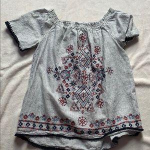 Off the shoulder cute blouse